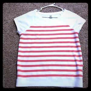 Old Navy Striped Short Sleeve Sweatshirt Medium